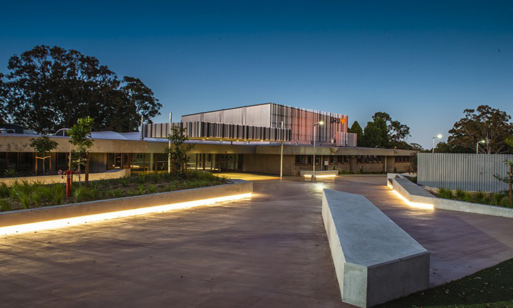 Refreshed entryway between A and B Blocks at the Toowoomba Campus